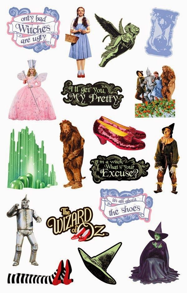 30p each - Wizard of Oz acid and lignin free scrapbooking die cut ...