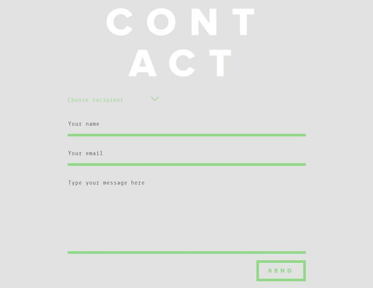 Highly Creative Contact Form Designs For Inspiration  Contact