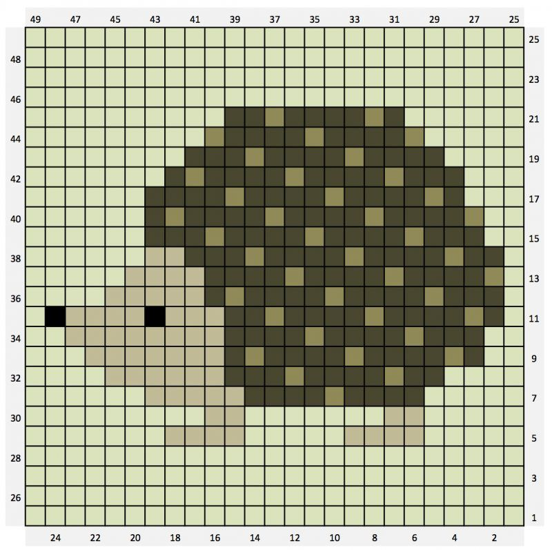 Photo of Hedgehog c2c chart – free – THE CRAFTY CO