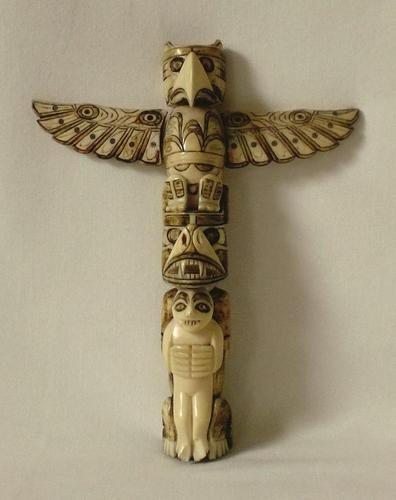 Rare Antique 19thc Tribal Carved Bone Totem Possibly Polynesian Bone Carving Rare Antique Tribal Art