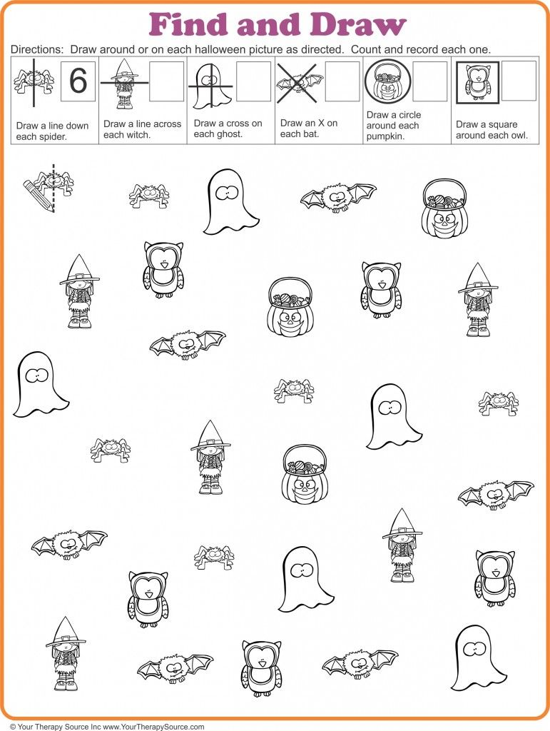 Find and draw freebie for halloween from httpyourtherapysource visual perceptual freebie for halloween find and draw robcynllc Image collections