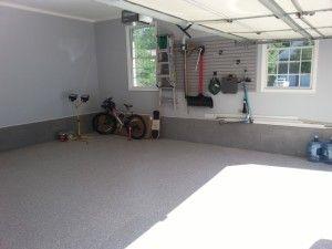 Garage remodel in West Caldwell, New Jersey #garagefloor #garageremodel #garageorganization