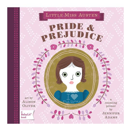 Introduce your little bibliophile to the romantic world of Jane Austen in Pride & Prejudice: A BabyLit Counting Primer. Stroll through 1 English village to meet 2 rich gentlemen and discover what happens when the 5 Bennet sisters encounter 4 marriage proposals! This book is a must for every savvy parent's nursery library.