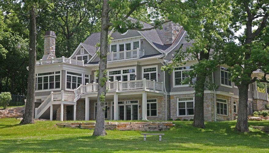 Lake Geneva Wisconsin Custom Home Builders Lowell Mgmt Exteriors