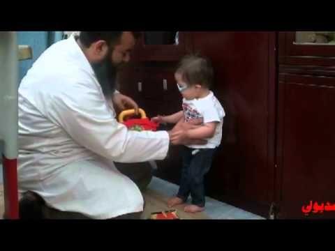 تدريب المساعدة على الوقوف للابن نوح مع اسامة مدبولي متلازمة داون Down Syndrome
