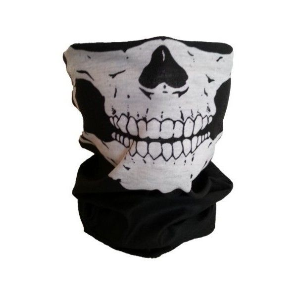 Skull Skeleton Face Mask Tube Bandana Balaclava Snowboard Moto X Face... ($6.95) ❤ liked on Polyvore featuring accessories and mask