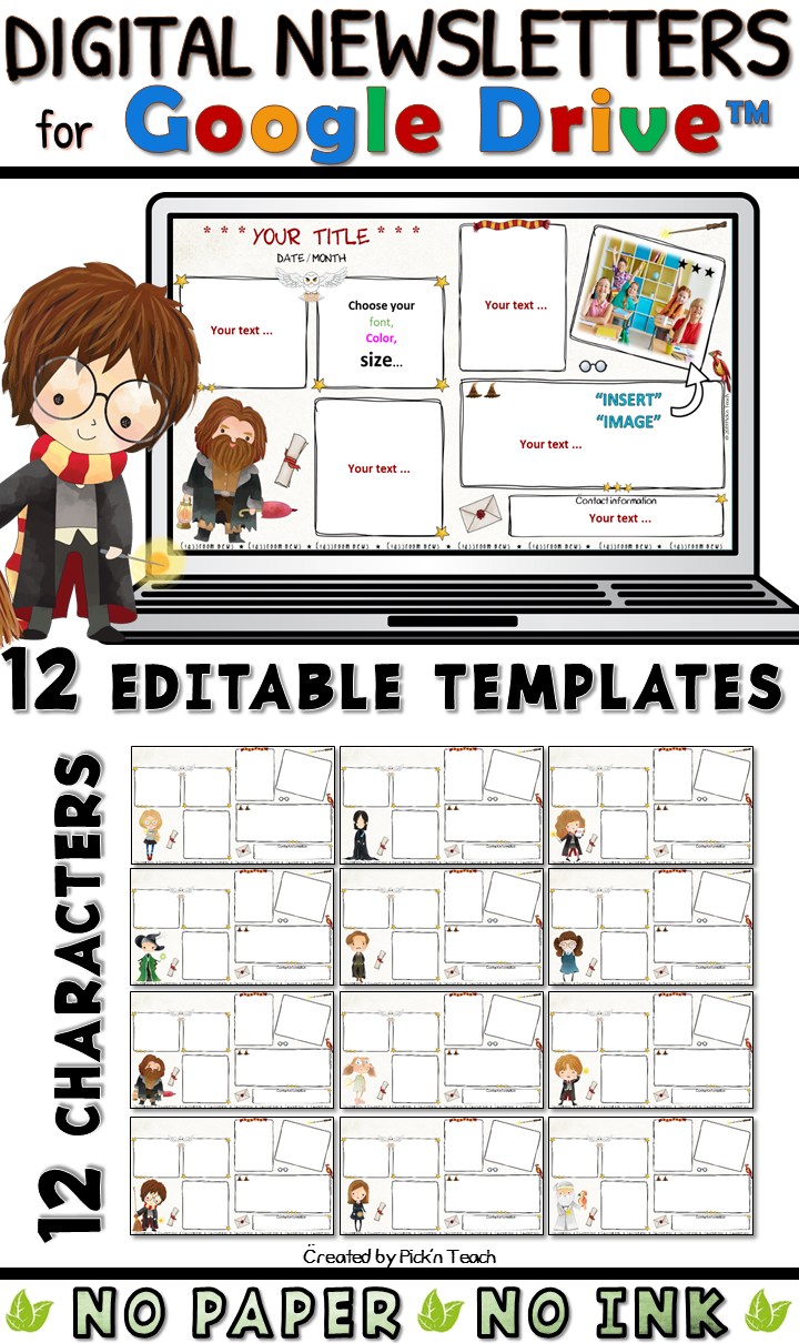 12 Editable Classroom Newsletter Templates For Wizards Google Drive 2 Classroom Newsletter Template Classroom Newsletter Newsletter Templates