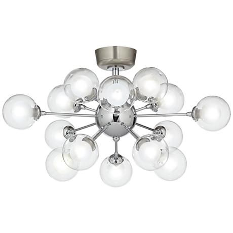 Possini euro design glass orbs 15 light led fan light kit