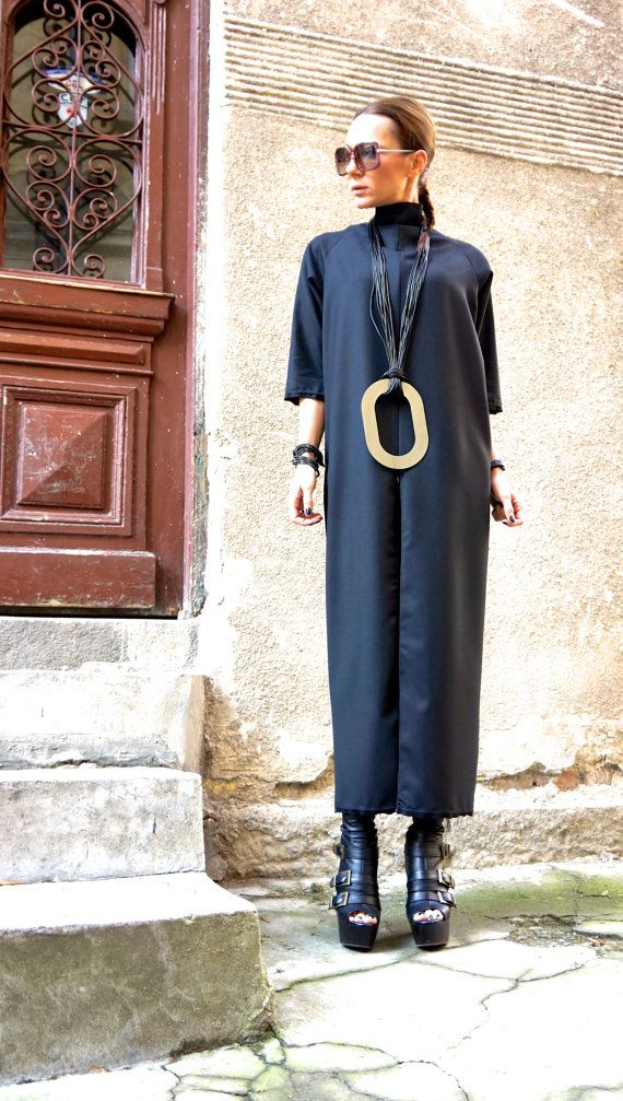 NEW Collection Black Extravagant Maxi Dress   High Quality Cold Wool ... 40b4183f0d4