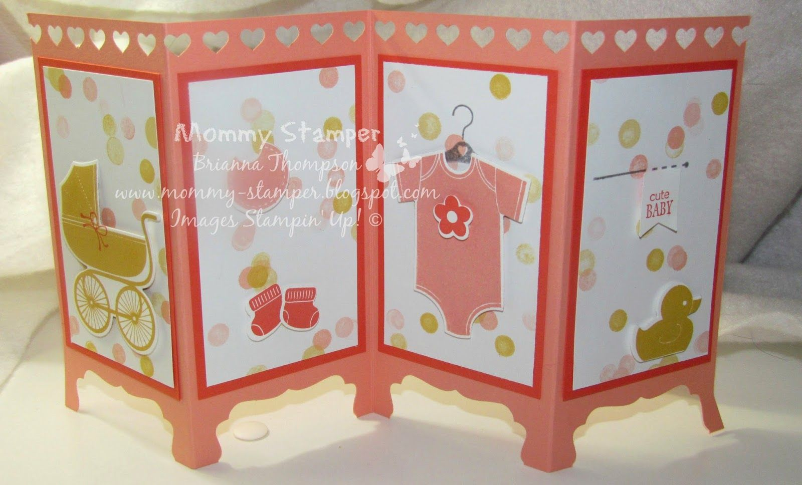 Mommy Stamper Baby Room Divider Card baby cards Pinterest