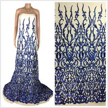 2017 Latest Lace Sequin Fabric Sequin To The Wedding Lace Accessories African Lace French Material