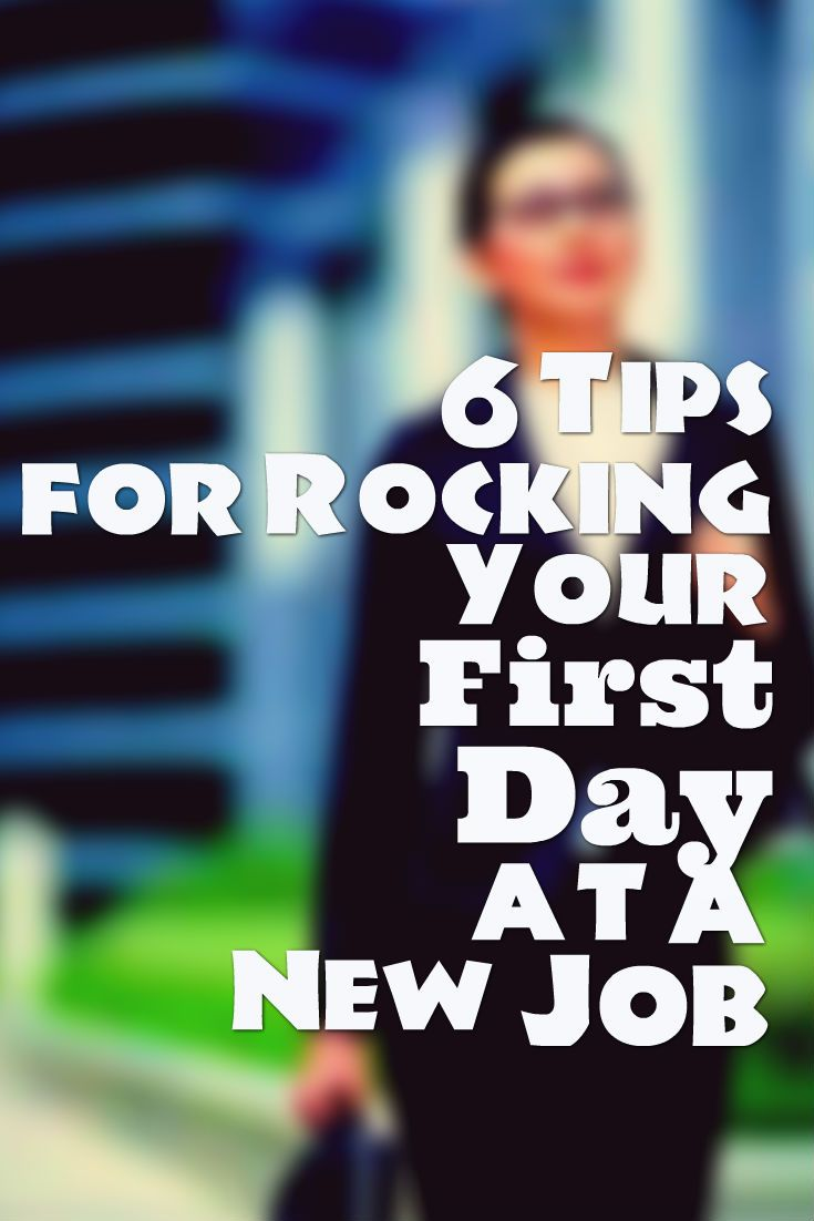 Great First Day At Work? Tips To Avoid Some Common Mistakes. Resume ...