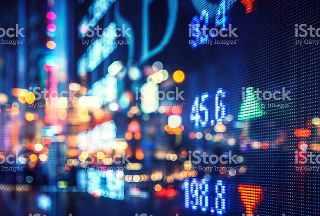 Display Stock Market Numbers And Graph Stock Market Investing