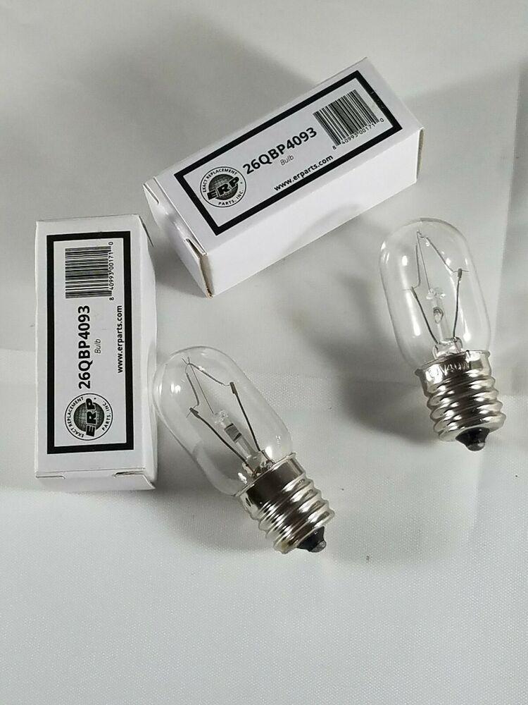2 Lot Appliance Bulb 26QBP4093 Whirlpool 8206232A 40T8N 40