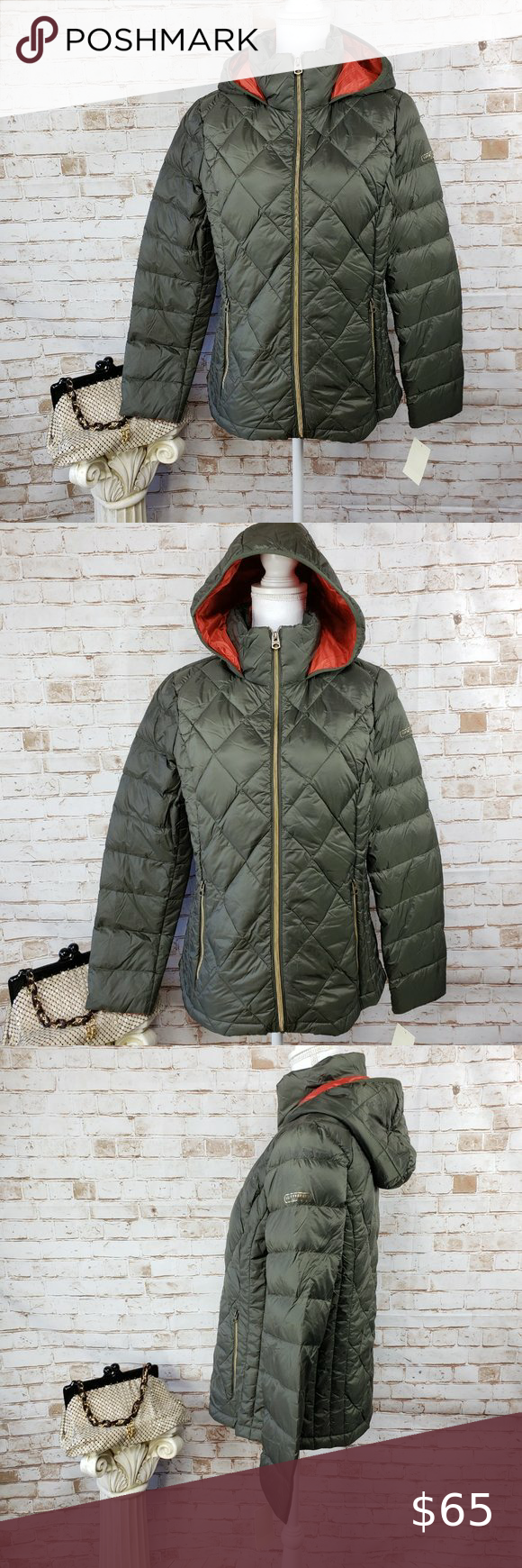 Nwt Lucky Brand Packable Hooded Down Puffer Jacket Lucky Brand Puffer Jackets Puffer [ 1740 x 580 Pixel ]
