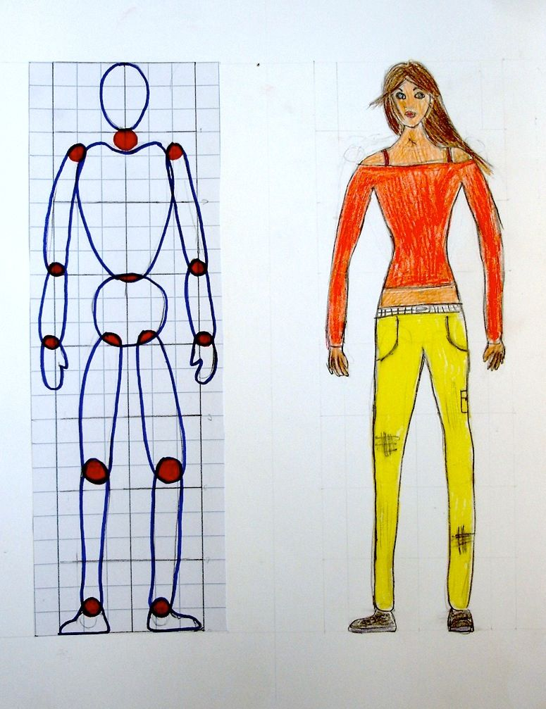 Draw a figure with the right proportions   Human figure ...