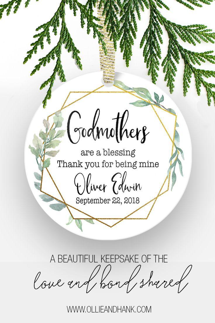 Baptism Gifts For Godmother | Godmother Christmas Ornament ...