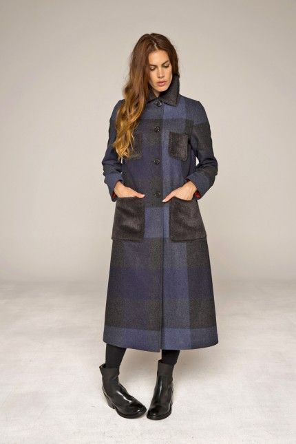 Manteau long femme drap de laine