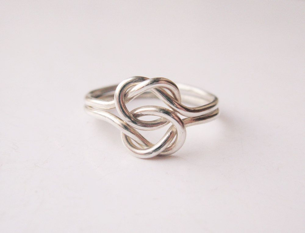 Double Love Knot Ring Sterling Silver Wire Wrap by LiuRokSilver ...