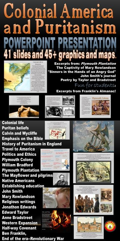 colonial america puritanism the crucible introduction powerpoint