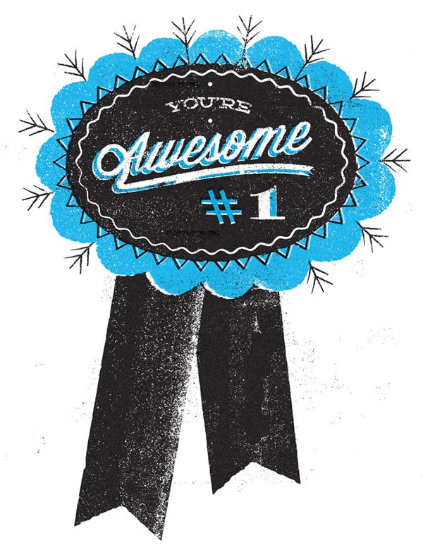 You're Awesome! from Telegramme Studio. #print
