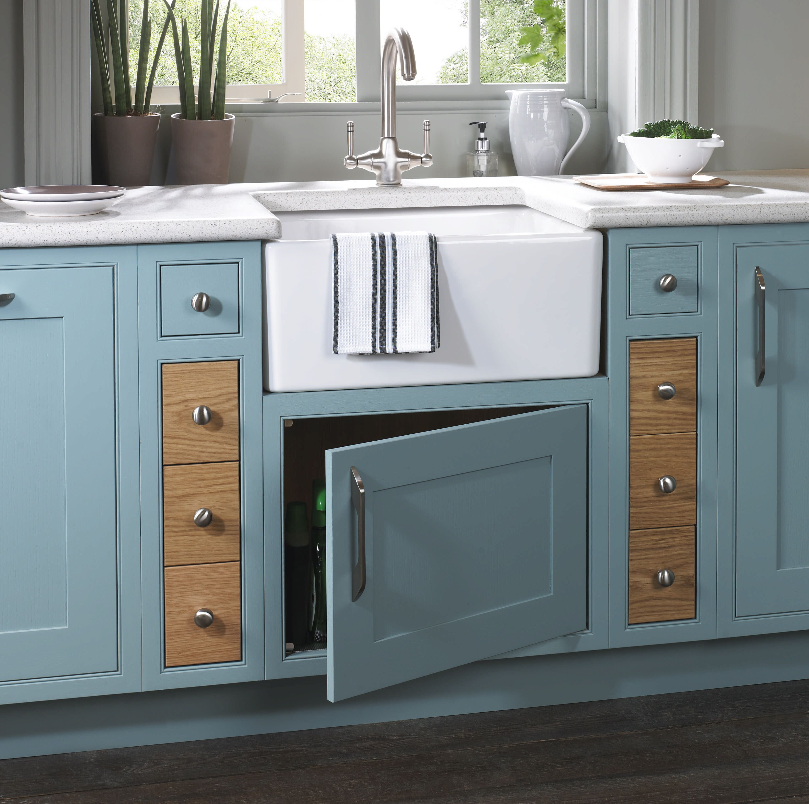 stunning cobalt blue colour doors in the english revival range with