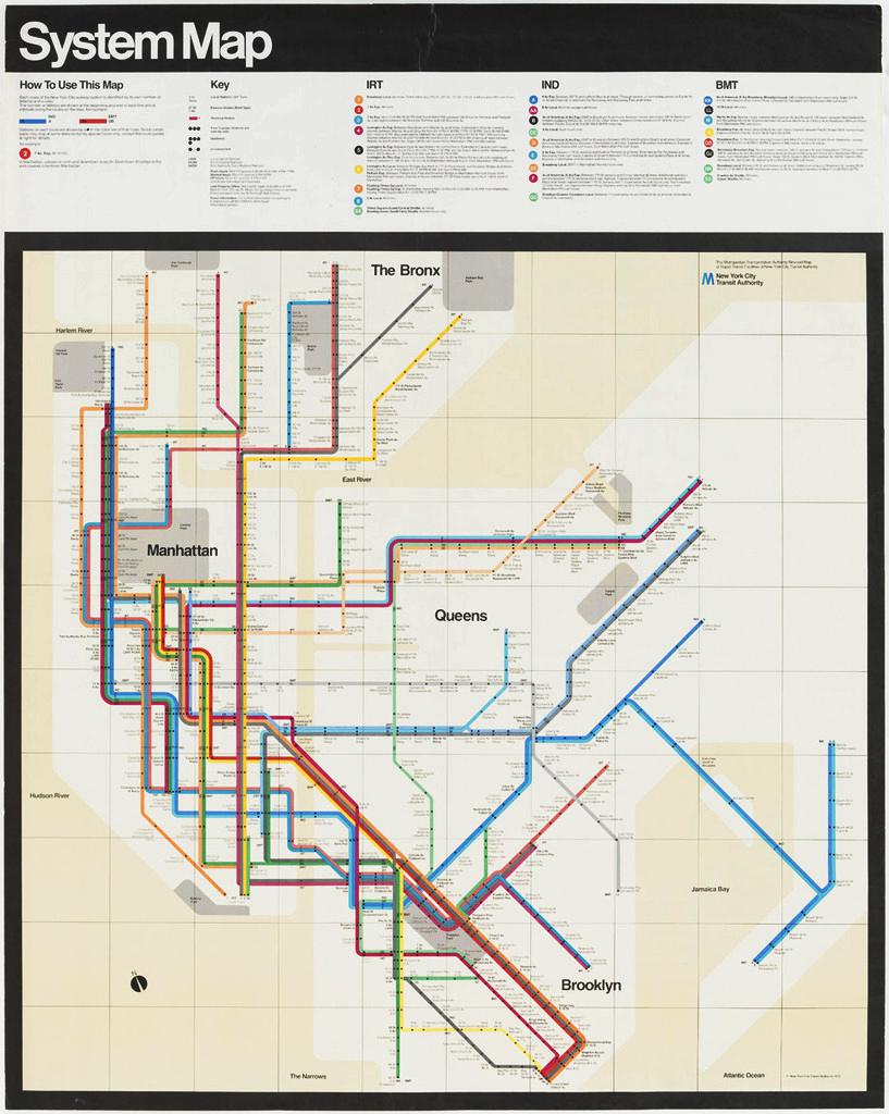 New York Subway Map Massimo Vignelli Vignelli Associates - New york map key
