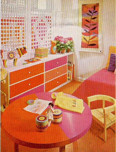 Orange   Pink   Orange Room. Pink   Orange Room Scan from   The Practical Encyclopedia of Good