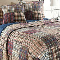 Freeport Madras Plaid Quilt Set   Overstock.com Shopping - Great ... : plaid quilt - Adamdwight.com