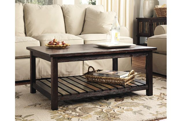 Rustic Brown Mestler Coffee Table View 1 Matches VERY Nicely With Zenfield Dining Set