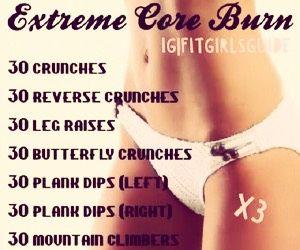 Extreme Core Burn #Health #Fitness #Trusper #Tip