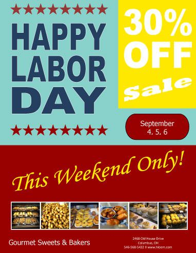 Weekend Sale Labor Day Flyer Template  Marketing Flyers