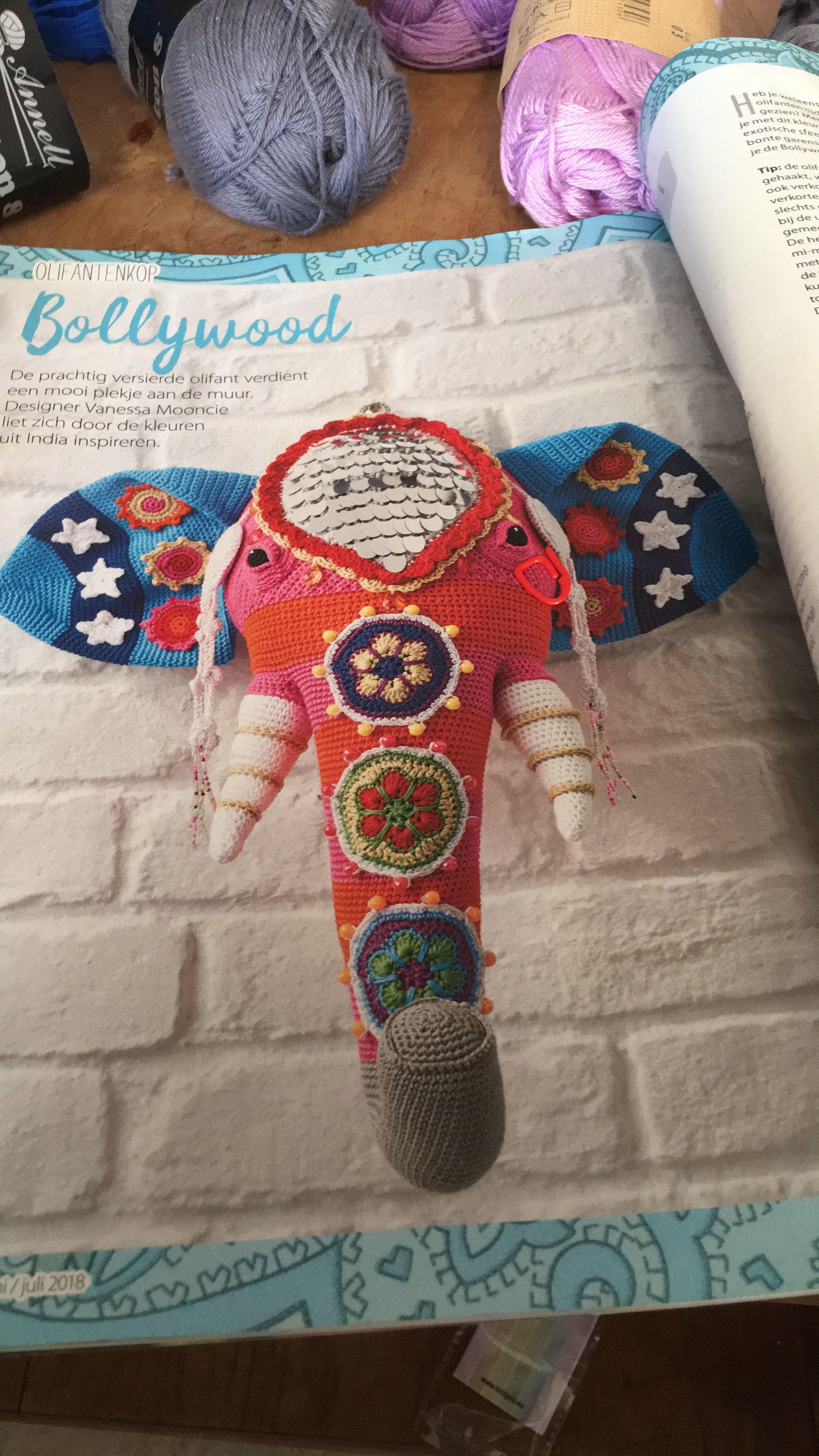 Pin Van Marjan Kooiman Op Olifant Haken Crochet Simplyhaken