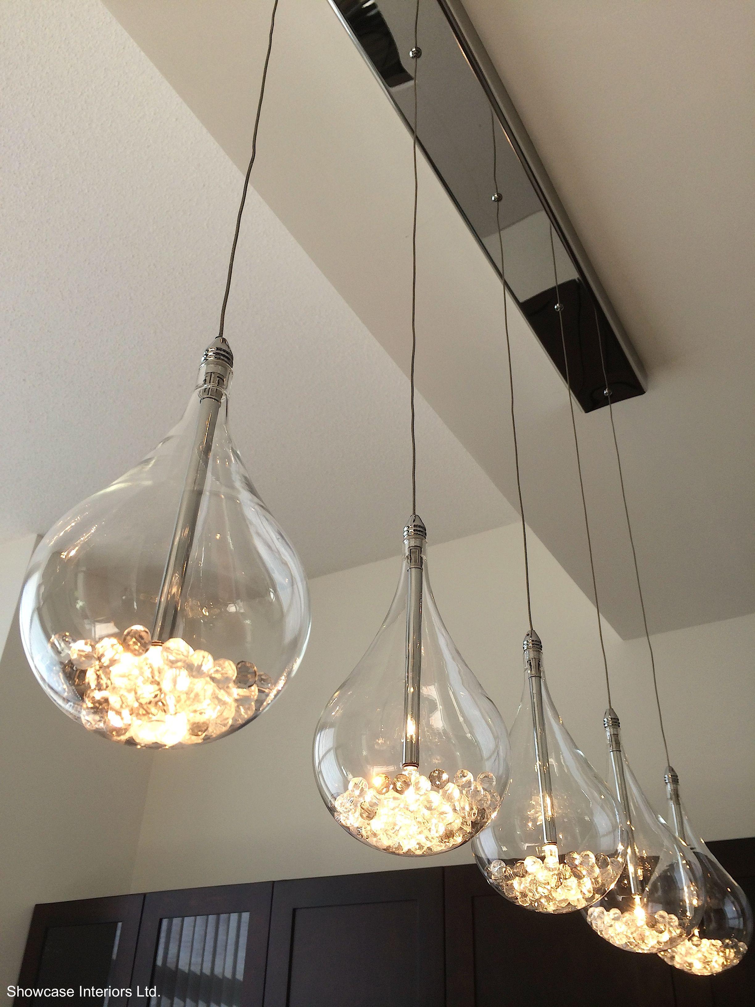 Led Tear Drop Glass Crystal Light Pendants Glass Pendant Light Modern House Lighting Crystal Lighting