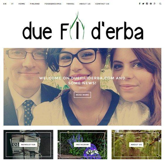 New website!! #finland #newzealand #nz #visitfinland #foodblog #travelblog #blog #italy #duefiliderba #visitus #welcome duefiliderba.com