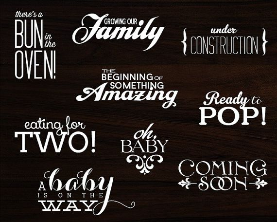 9 word overlays baby pregnancy phrases photo overlay text photo