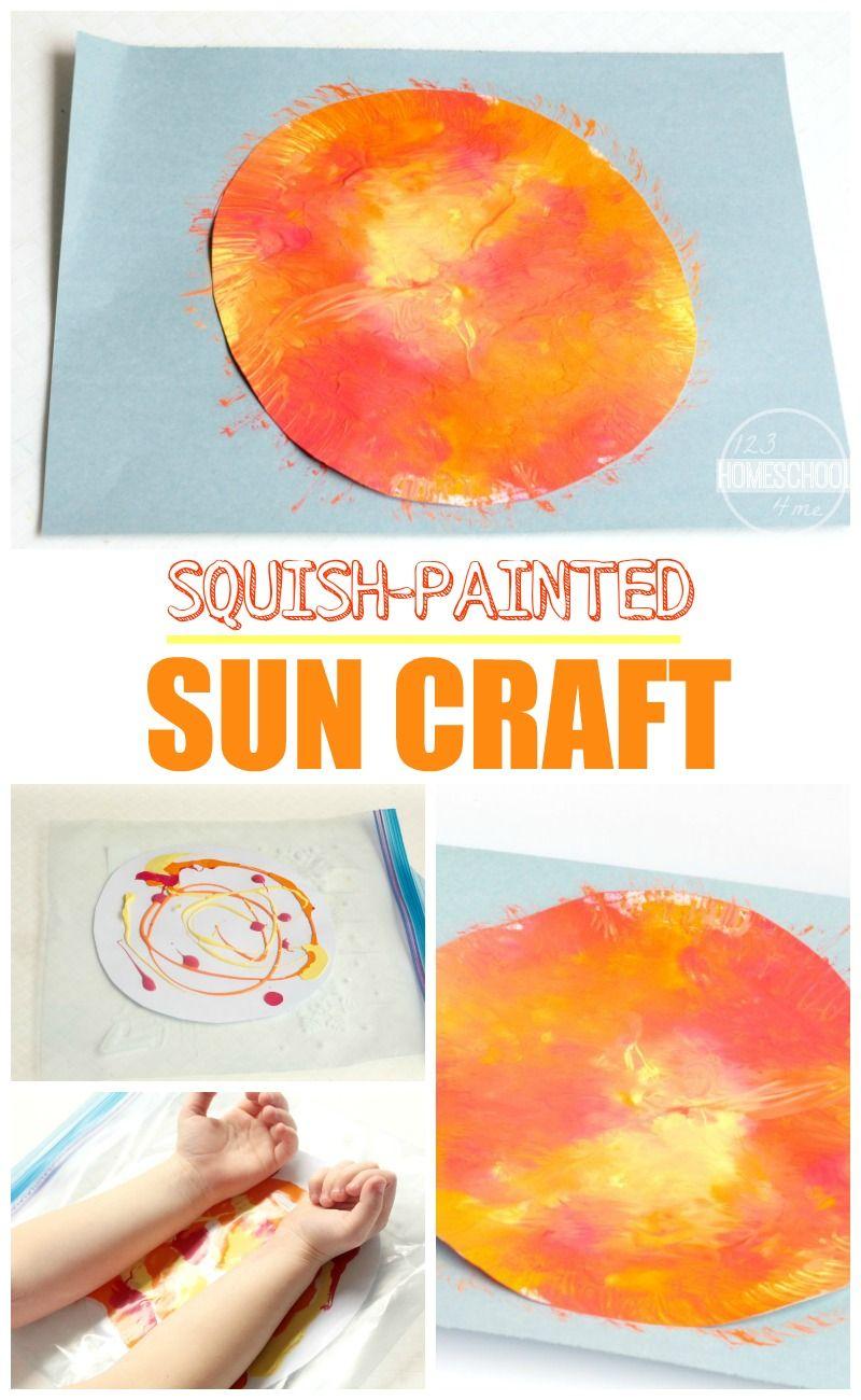 Squish Painted Sun Craft Www 123homeschool4me Com