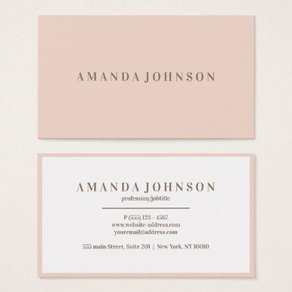 Elegant Girly Day Spa And Salon Blush Pink Business Card Zazzle Com Pink Business Card Business Cards Beauty Spa Gifts Diy