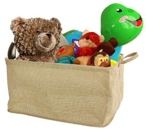 Kosz Lniany Worek Koszyk Pojemnik Na Zabawki Toy Chest Toys Storage Chest