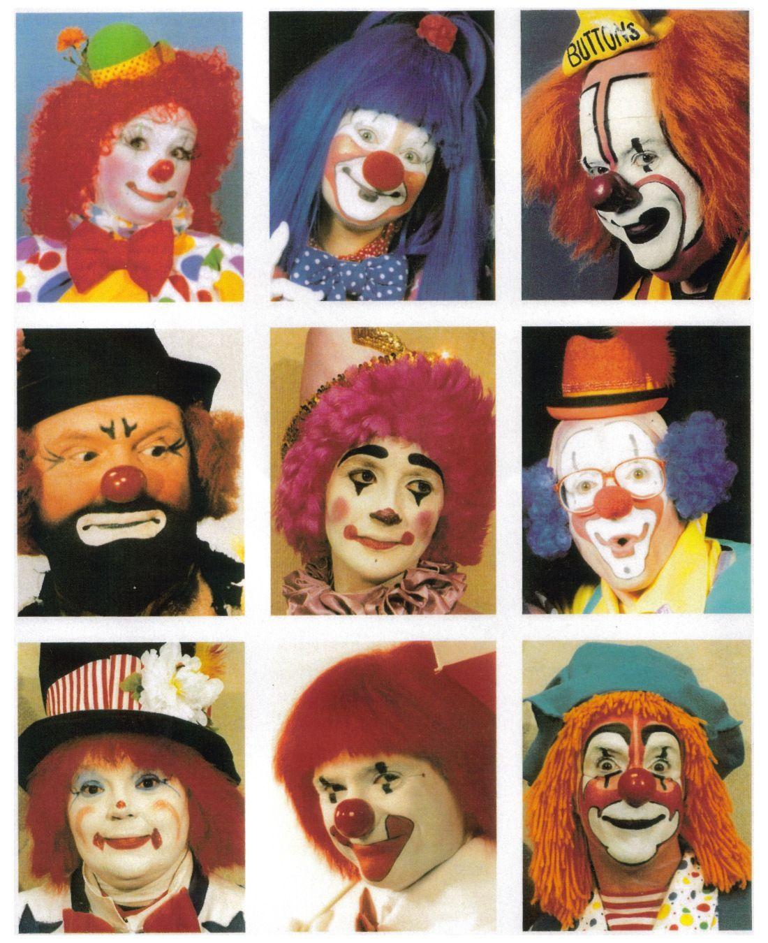 Hobo Clown Faces