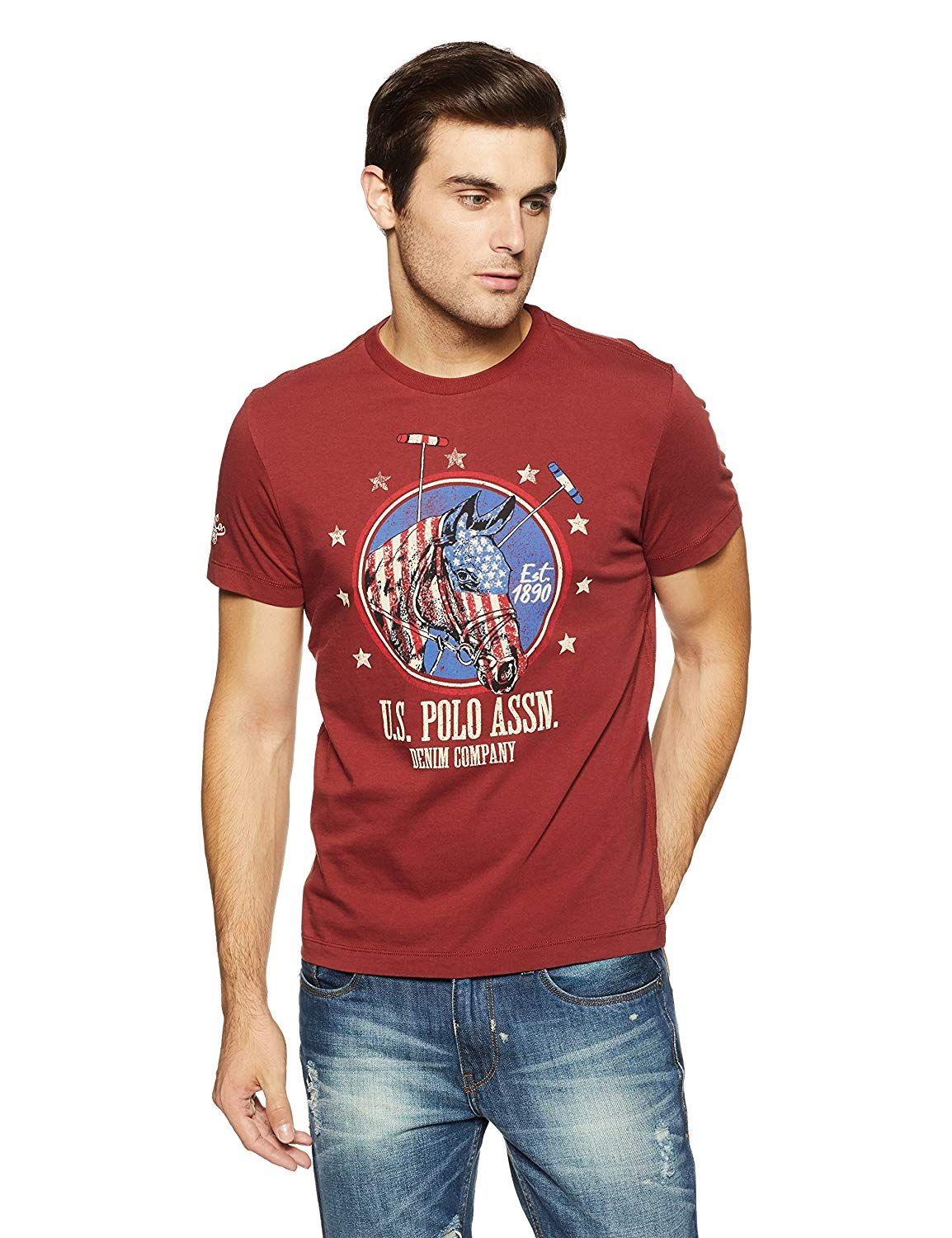 how to orders new lower prices best sale US Polo Men's Solid Regular Fit T-Shirt: Amazon.in: Clothing ...