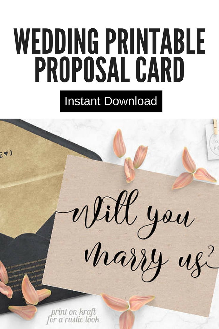Will You Marry Us Card Printable, Will You Be Our