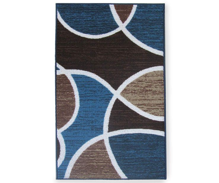 Living Colors Braden Blue Accent Rugs Accent Rugs Blue Rug Blue Accents