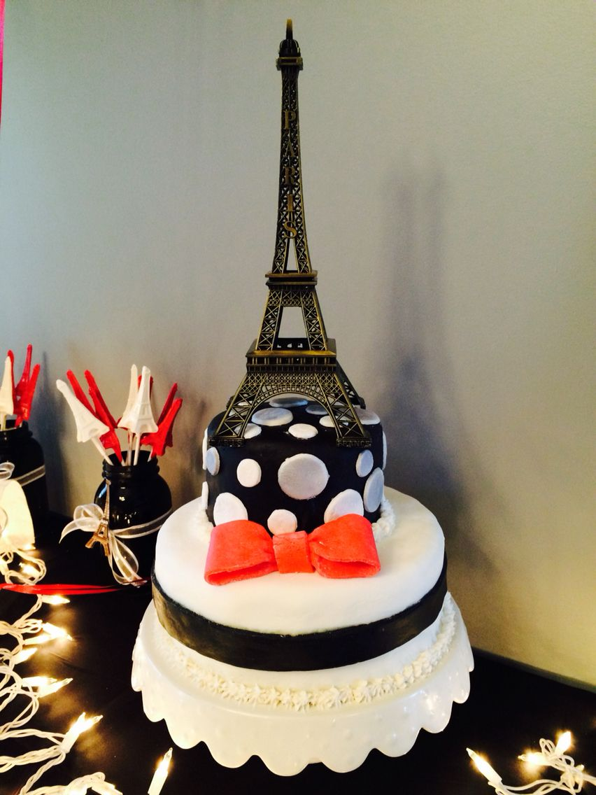 Cake I made for my nephew for his Paris themed Birthday party.