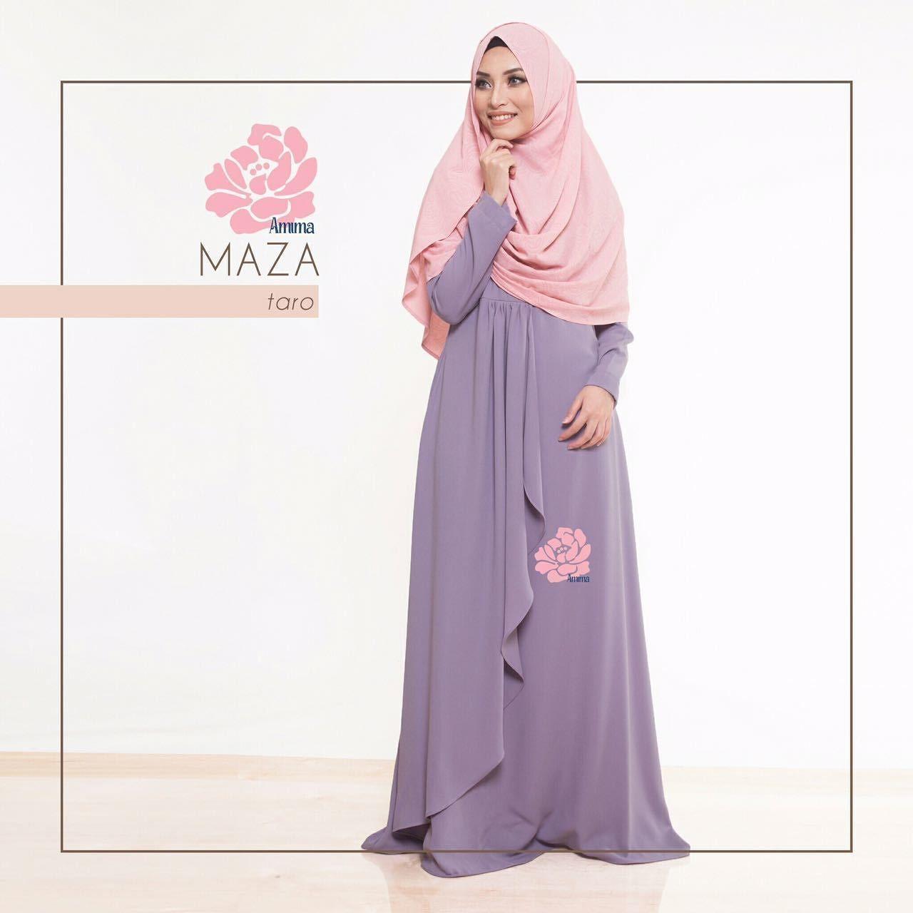 Gamis Amima Maza Dress Taro Baju Gamis Wanita Busana Muslim