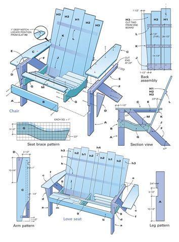 Adirondack Chairs :: DIY Plans #AdirondackChair