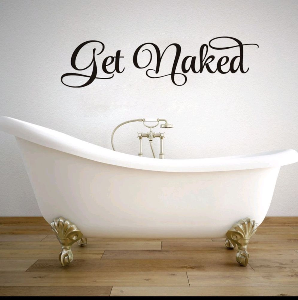 Charmant Get Naked Wall Decal Sticker Bathroom Bedroom Home Decor