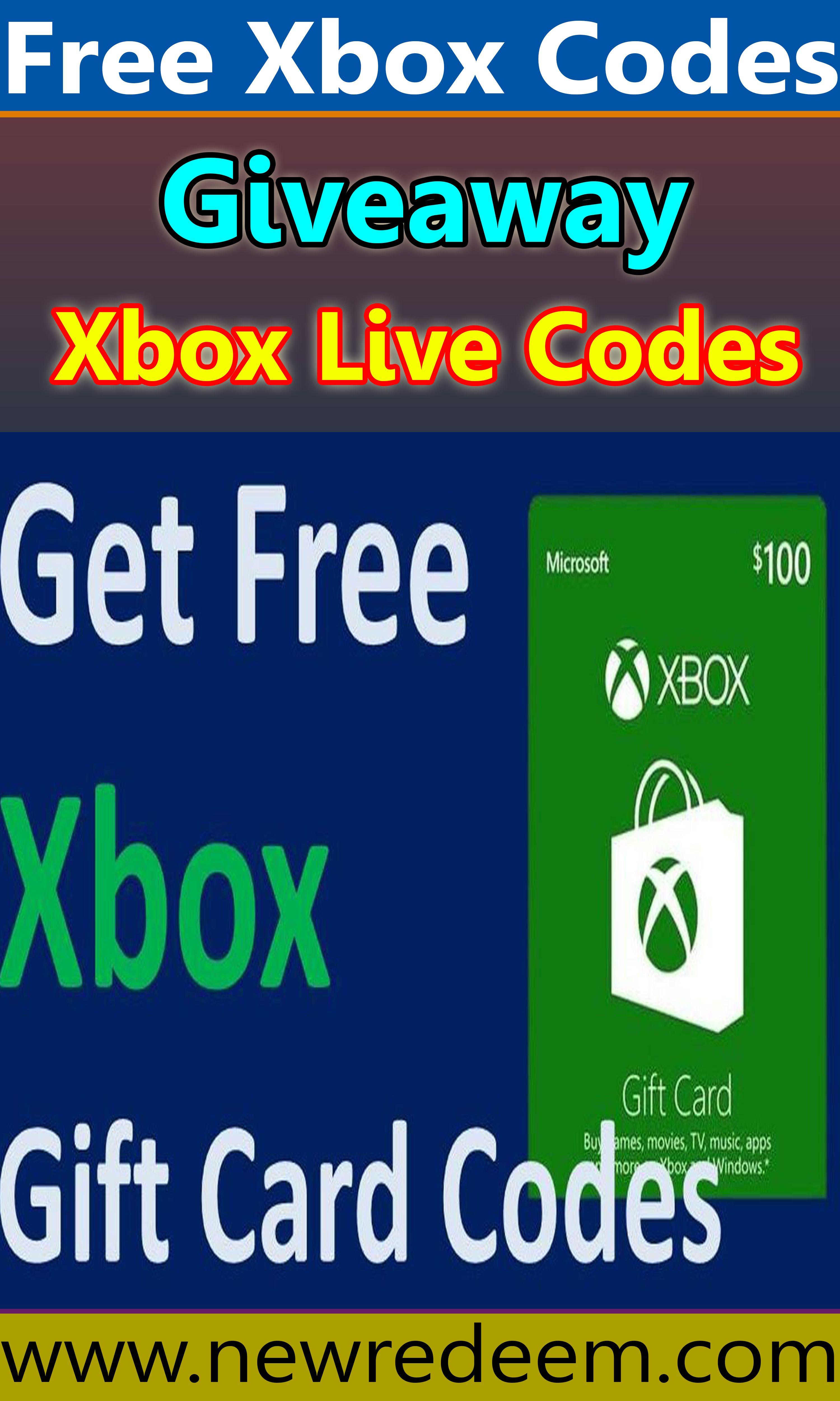 Xbox Redeem Code Generator Free Xbox Gift Card Unused Codes 2020