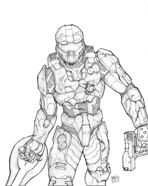 Master Chief Pencils By Mikedimayuga On Deviantart