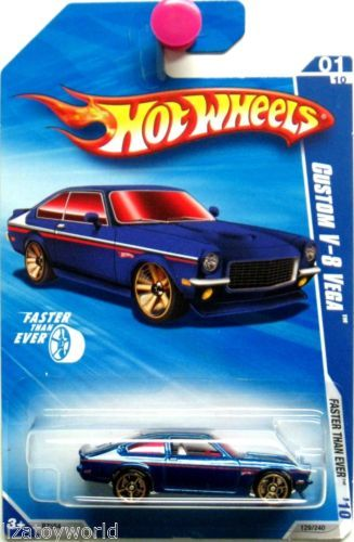 1971 Chevy Vega V 8 Hot Wheels 2010 Faster Than Ever 01 10 Blue